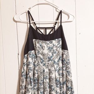 Altard State Strappy Blue/White Floral Dress